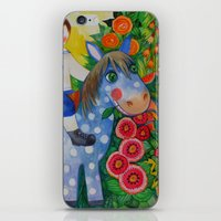 pony iPhone & iPod Skins featuring Pony by oxana zaika
