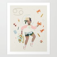 cancer Art Prints featuring Cancer by LordofMasks