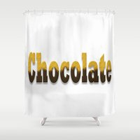 chocolate Shower Curtains featuring chocolate by scalpel