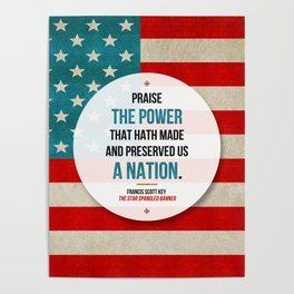 Preserved us a Nation Poster