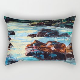 Toby Waters creek painting by Dennis Weber / ShreddyStudio Rectangular Pillow