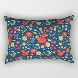 Let's go nuts! - Surface Pattern Design - ByBeck Rectangular Pillow