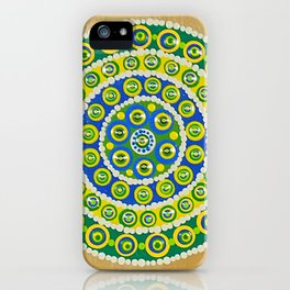Green & Blue Dots iPhone Case