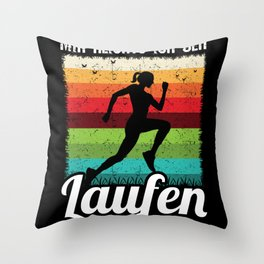 I have Enough I'm Going To Run Throw Pillow