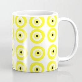 Summer Sunshine Evil Eye Lemon Yellow Coffee Mug