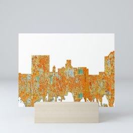 Augusta, Georgia Skyline - Rust Mini Art Print
