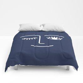 Wink / Navy Comforters