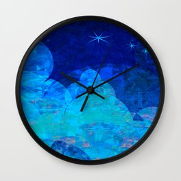 Deep Blue Night Sky Glow Wall Clock