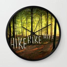 Hike Hike Hike Wall Clock