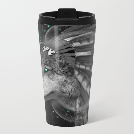 Don't Define the World (Chief of Dreams: Wolf) Tribe Series Metal Travel Mug