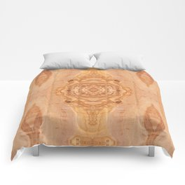 Olive wood surface texture abstract Comforters