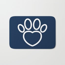 Dog Paw with Heart Dog Lover & owner cynophilist gift Bath Mat