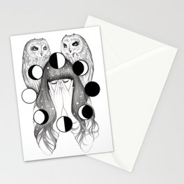 Moon Spells Stationery Cards