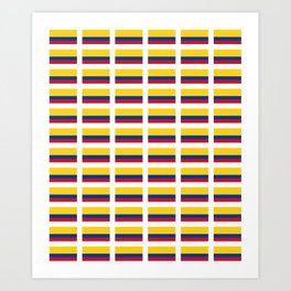 Flag of Colombia 2 -Colombian,Bogota,Medellin,Marquez,america,south america,tropical,latine america Art Print
