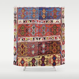 Taspinar Aksaray Antique Turkish Kilim Rug Print Shower Curtain