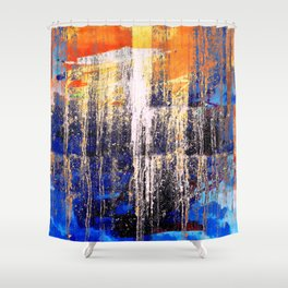 Golden Dawn, Abstract Landscape Art Shower Curtain