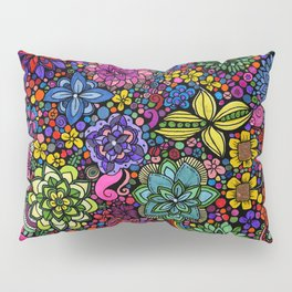 Flowers on the Brain Pillow Sham