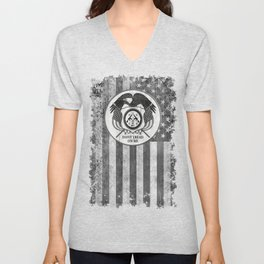 Faith Hope Liberty & Freedom Eagle on US flag Unisex V-Neck