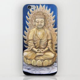Meditation Buddha Oil Painting Still Life Peaceful Spiritual (Tranquil Space) iPhone Skin