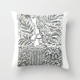 Sculpture in Garden Throw Pillow