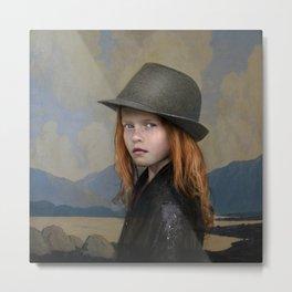 Irish girl with hat Metal Print