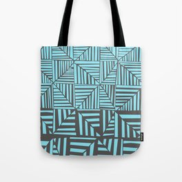Red & Gray Pattern Tote Bag