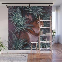 Cannabisquirrel by CreepSeason Wall Mural
