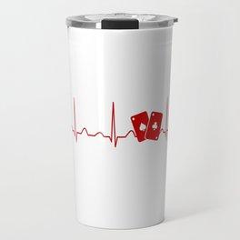 POKER HEARTBEAT Travel Mug