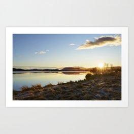 Lake Myvatn Art Print