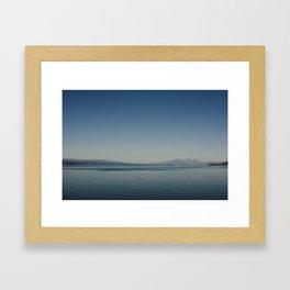 serene morning at lake taupo Framed Art Print