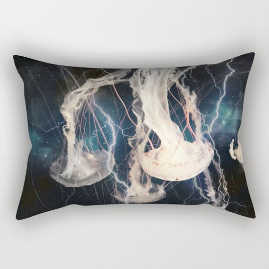 Space Jellyfish Rectangular Pillow