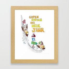 Guten Rutsch ins Neue Jahr greeting card by Nicole Janes Framed Art Print