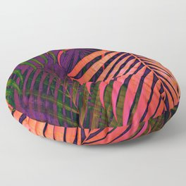COLORFUL TROPICAL LEAVES no1 Floor Pillow