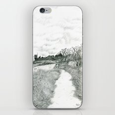Crail coastal path: Kingdom of Fife, Scotland [Pencil version] iPhone & iPod Skin