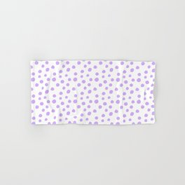 White & Lilac Polka Dots Hand & Bath Towel