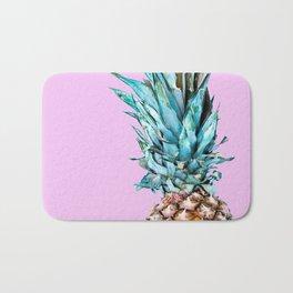Pineapple On A Pink Background #decor #society6 #homedecor Bath Mat