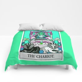 7. The Chariot- Neon Dreams Tarot Comforters