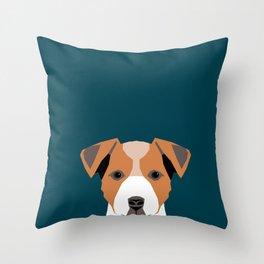 Bailey - Jack Russell Terrier phone case art print gift for dog people Jack Russell Terrier owners Throw Pillow