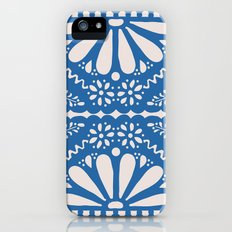 Fiesta de Flores Blue Slim Case iPhone (5, 5s)