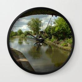 Barge thro the bridge Wall Clock