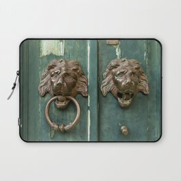 Lion heads of precious metal Laptop Sleeve