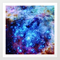 galaxy Art Prints featuring galaxy by 2sweet4words Designs