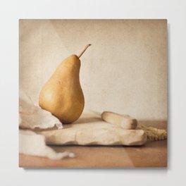 Bosc Pear 1 Metal Print