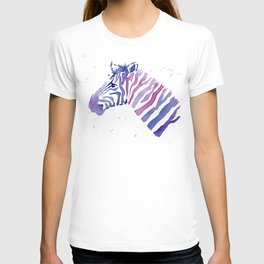 Zebra Watercolor Purple Stripes Animal T-shirt