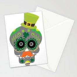 Irish Sugar Skull Funny St Patricks Day Stationery Cards