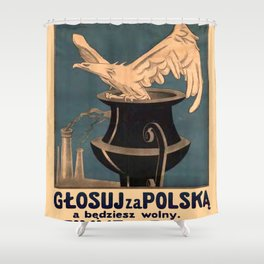 Vintage poster - Poland Shower Curtain