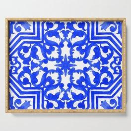 Portuguese azulejo tiles. Gorgeous patterns. Serving Tray