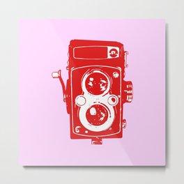 Big Vintage Camera - Red / Pink Metal Print