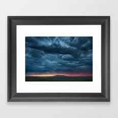 Salt Lake Sky Framed Art Print