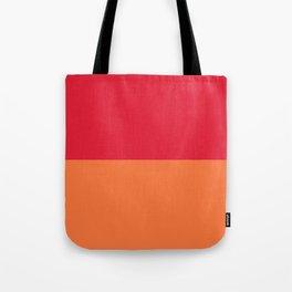Raspberry Peach Orange Tote Bag